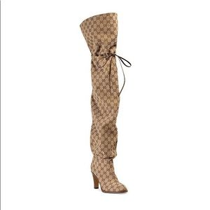 ✨BRAND NEW✨ Gucci GG Canvas Over-The-Knee Boots